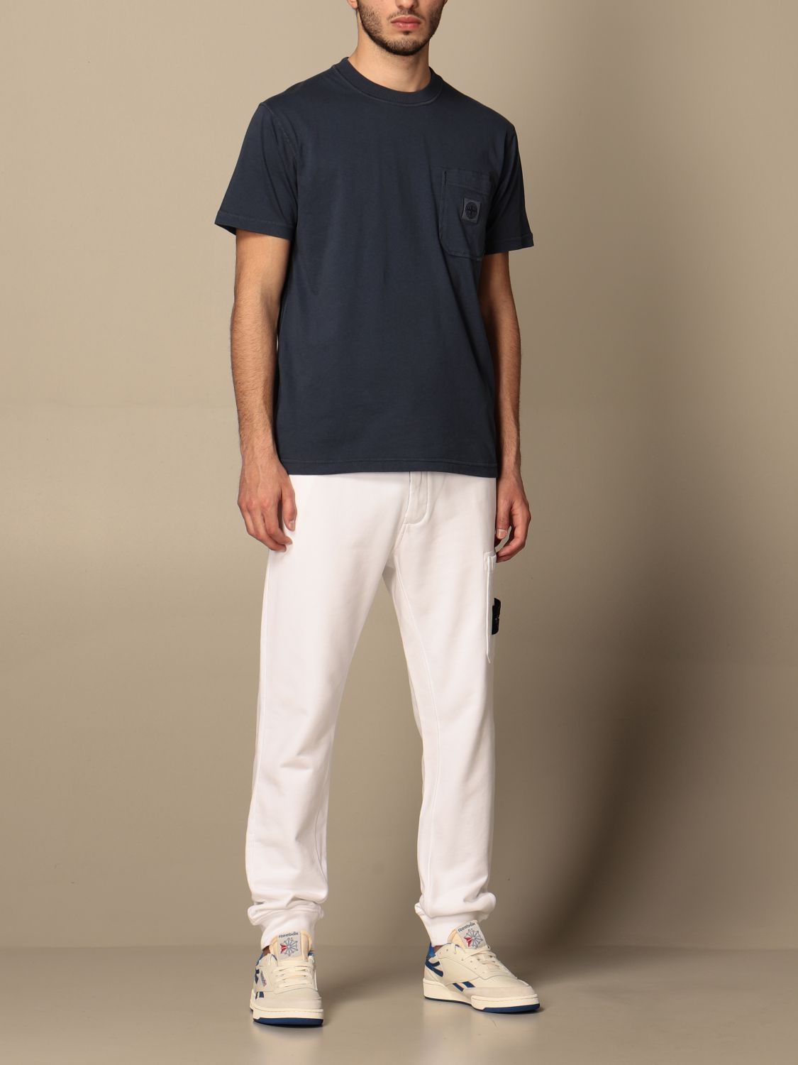 Trousers Stone Island: Stone Island jogging trousers in cotton white 2