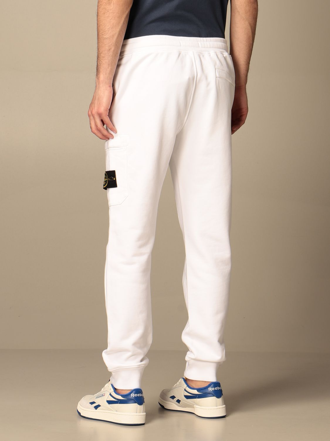 Trousers Stone Island: Stone Island jogging trousers in cotton white 3