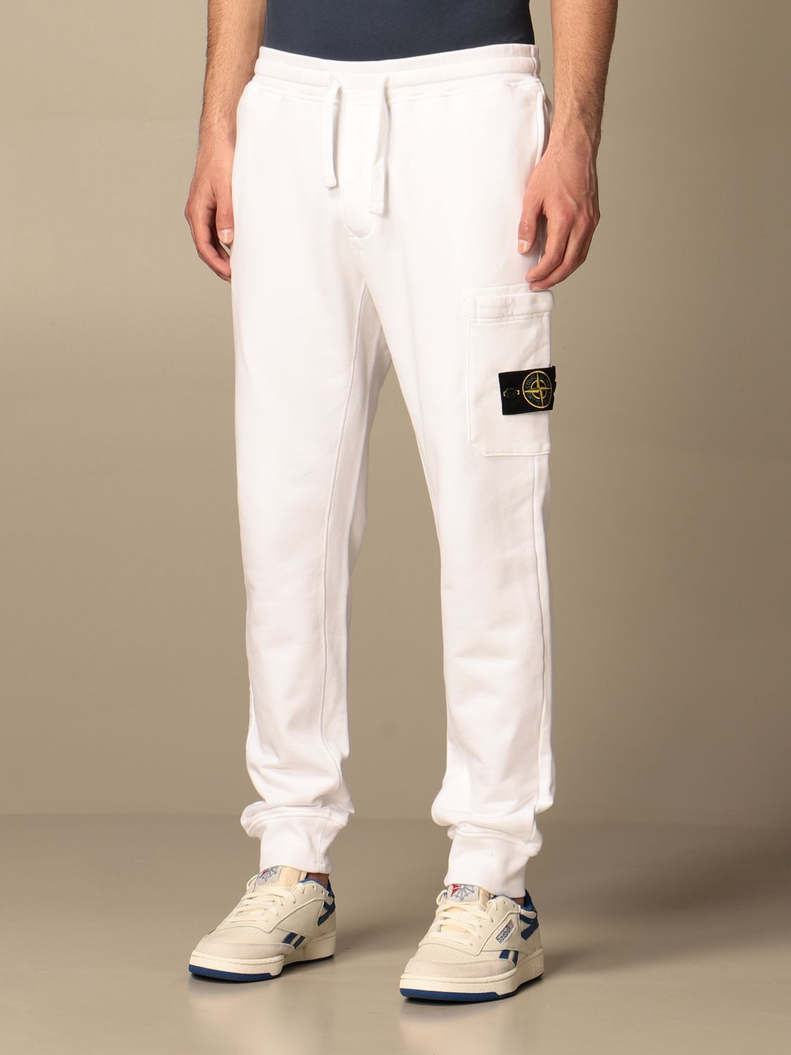 Trousers Stone Island: Stone Island jogging trousers in cotton white 4