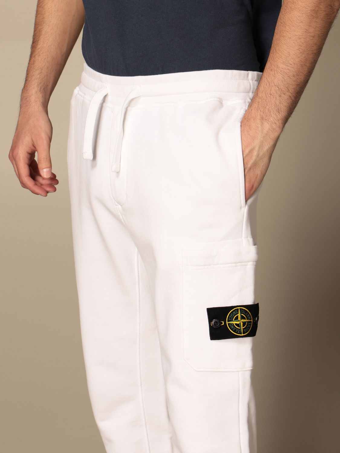 Trousers Stone Island: Stone Island jogging trousers in cotton white 5