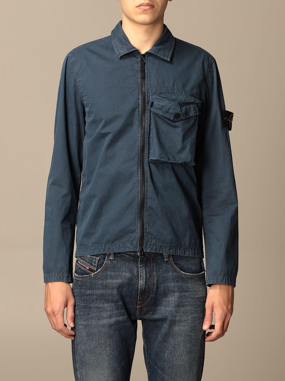 Jacket Stone Island: Stone Island nylon jacket with zip avion 1
