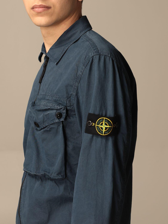Jacket Stone Island: Stone Island nylon jacket with zip avion 4