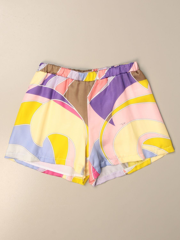 Pantalones cortos Emilio Pucci: Pantalón niños Emilio Pucci amarillo 1