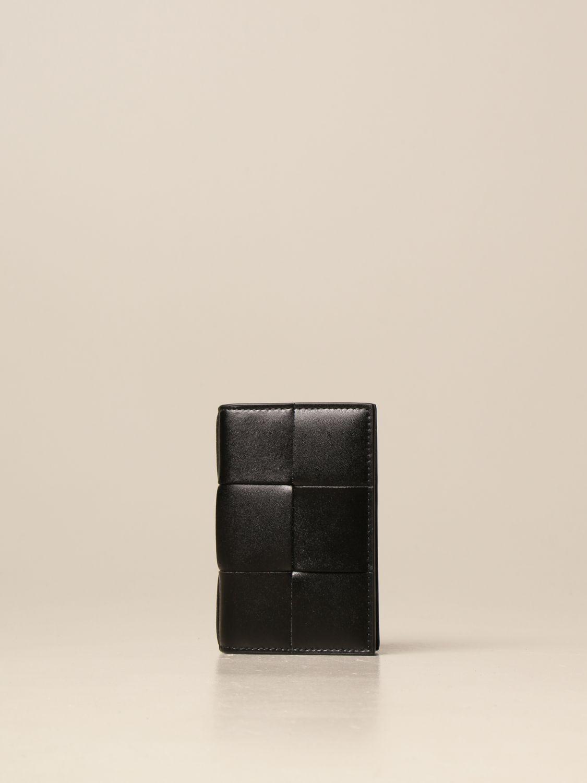 Wallet Bottega Veneta: Bottega Veneta wallet in woven leather silver 1