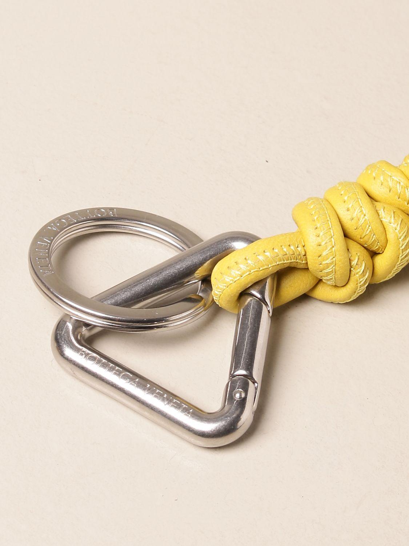 Keyring Bottega Veneta: Bottega Veneta key ring in tubular nappa silver 2