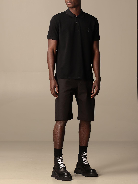 Polo Alexander Mcqueen: Polo Alexander McQueen in cotone piqué con teschio nero 2