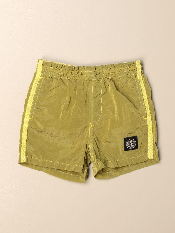 Shorts Stone Island Junior: Stone Island Junior jogging shorts with logo lemon 1
