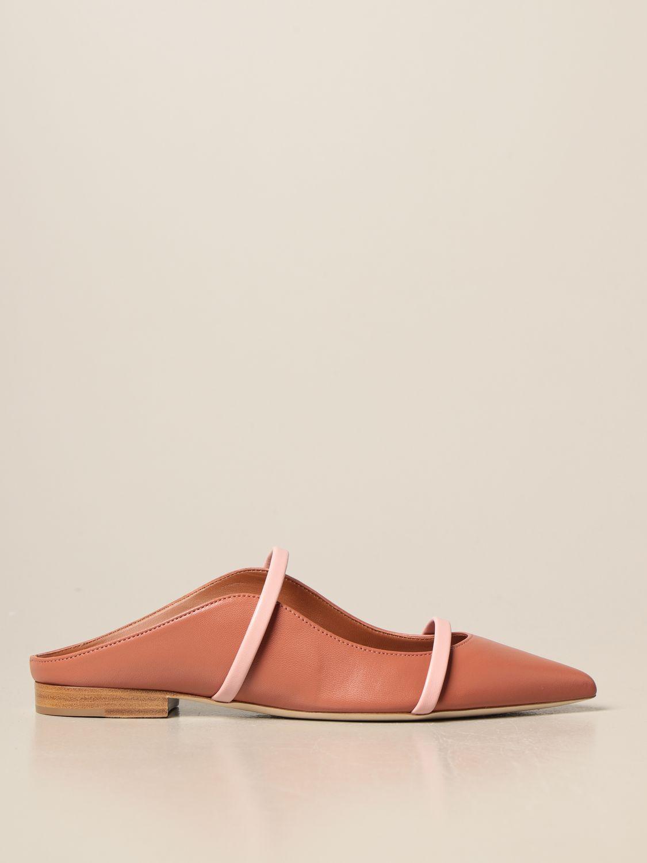 Босоножки без каблука Malone Souliers: Обувь Женское Malone Souliers лососевый 1