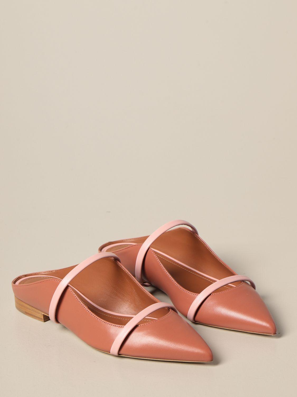 Босоножки без каблука Malone Souliers: Обувь Женское Malone Souliers лососевый 2