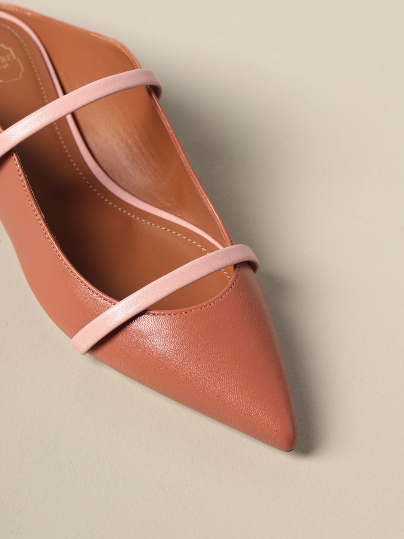 Босоножки без каблука Malone Souliers: Обувь Женское Malone Souliers лососевый 4