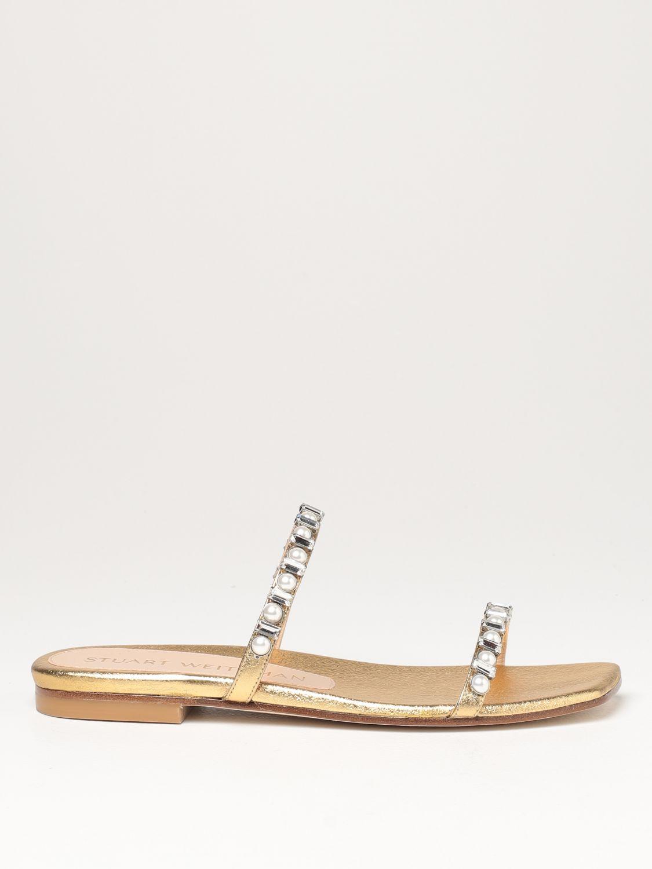 Flache Sandalen Stuart Weitzman: Flache sandalen damen Stuart Weitzman gold 1