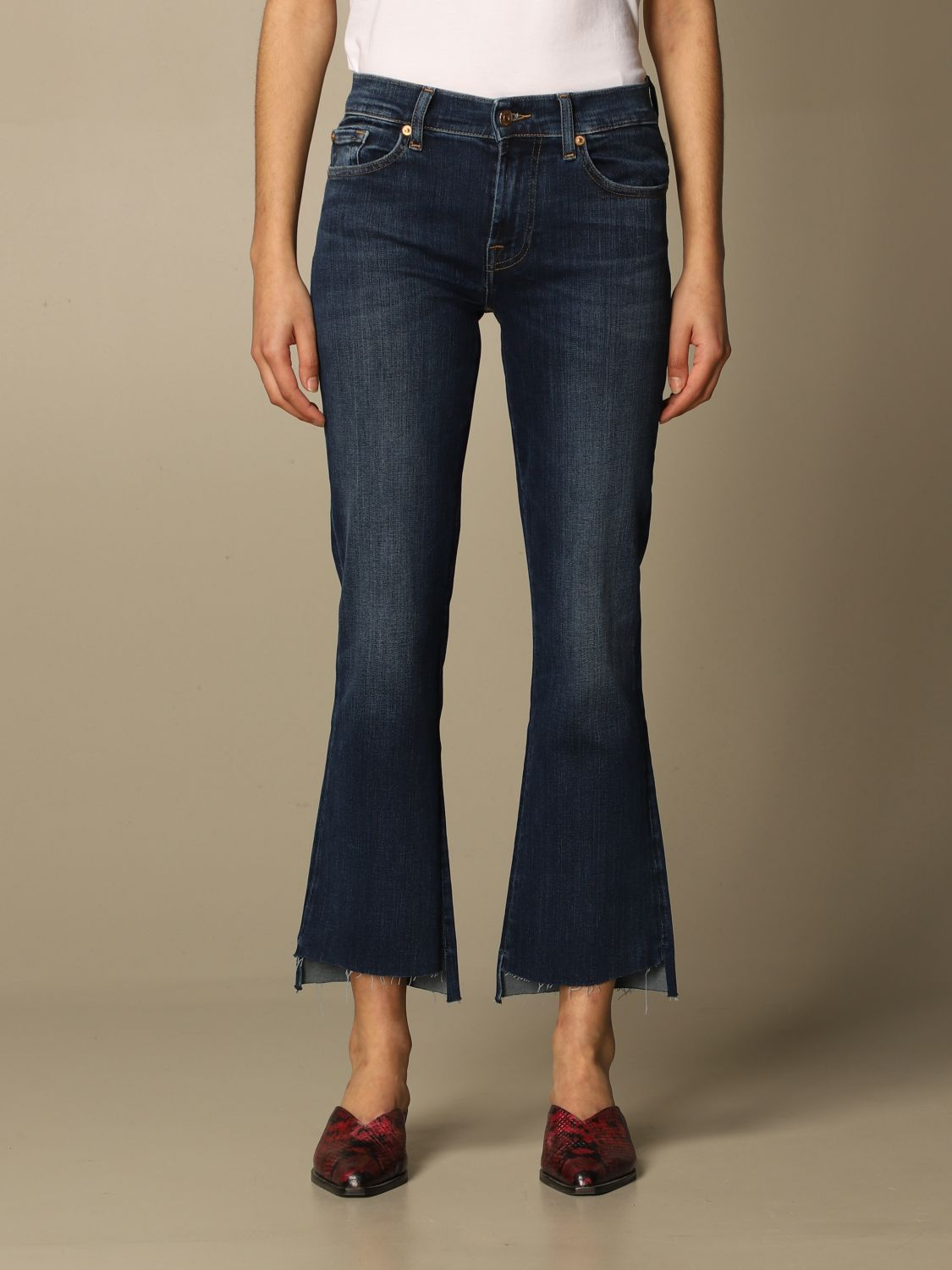 Jeans 7 For All Mankind: Jeans mujer 7 For All Mankind azul oscuro 1