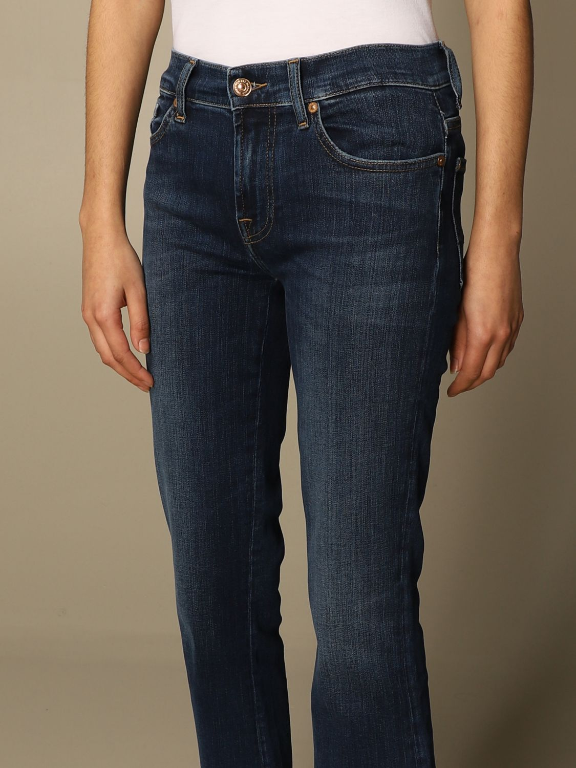 Jeans 7 For All Mankind: Jeans mujer 7 For All Mankind azul oscuro 3