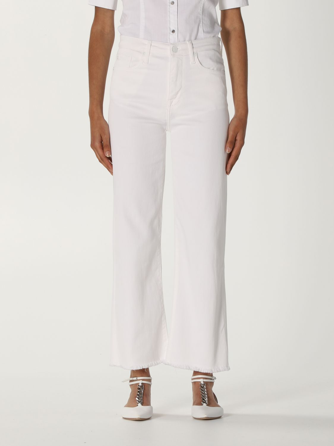Jeans 7 For All Mankind: Jeans mujer 7 For All Mankind blanco 1