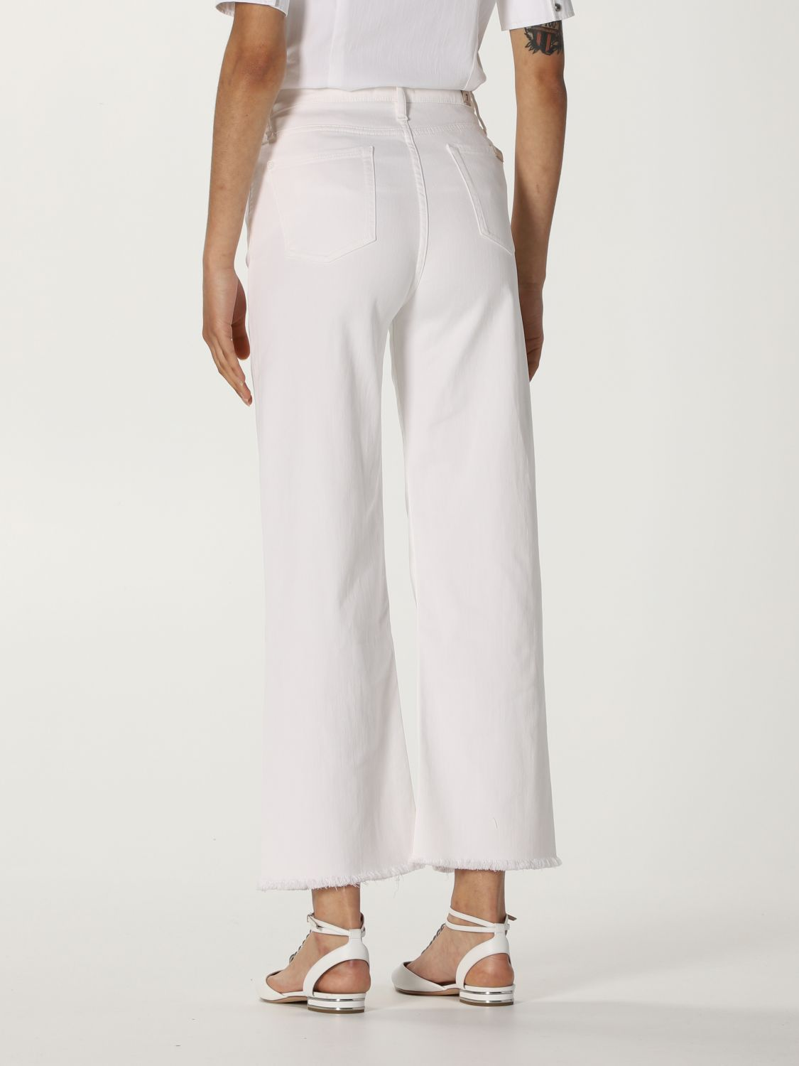 Jeans 7 For All Mankind: Jeans mujer 7 For All Mankind blanco 2
