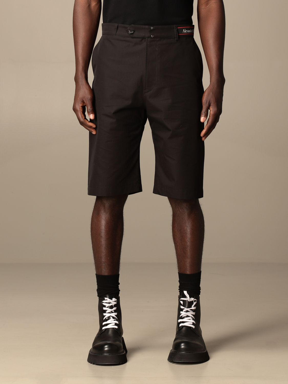 Pantaloncino Alexander Mcqueen: Pantaloncino Alexander McQueen in cotone nero 1