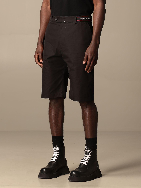 Pantaloncino Alexander Mcqueen: Pantaloncino Alexander McQueen in cotone nero 4
