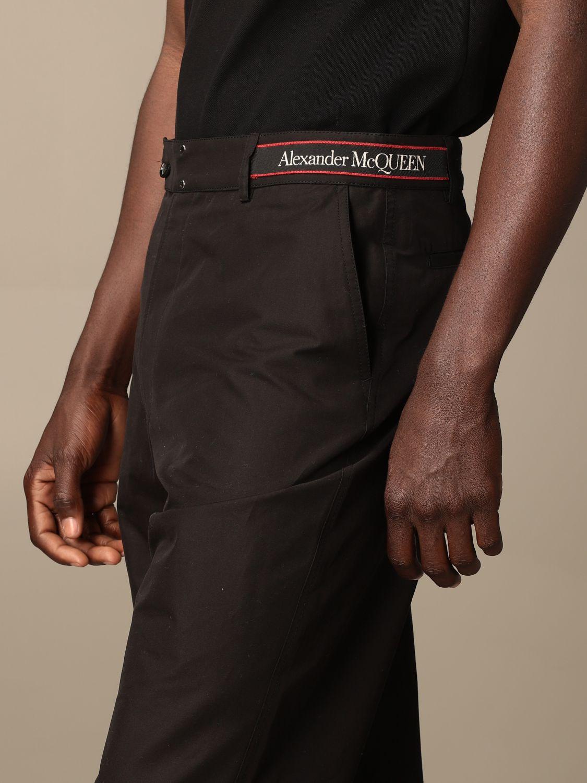 Pantaloncino Alexander Mcqueen: Pantaloncino Alexander McQueen in cotone nero 5