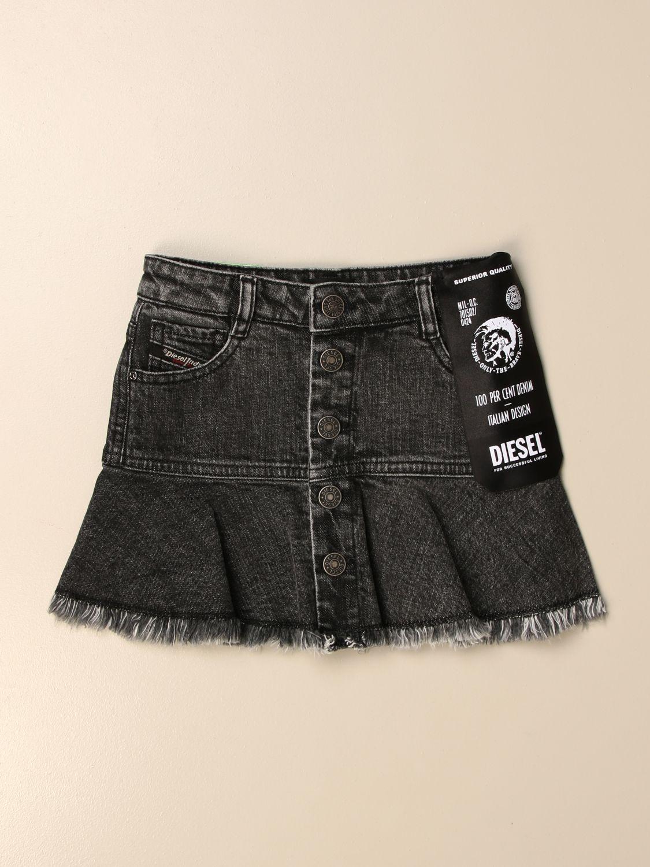 Skirt Diesel: Diesel mini 5-pocket denim skirt black 1