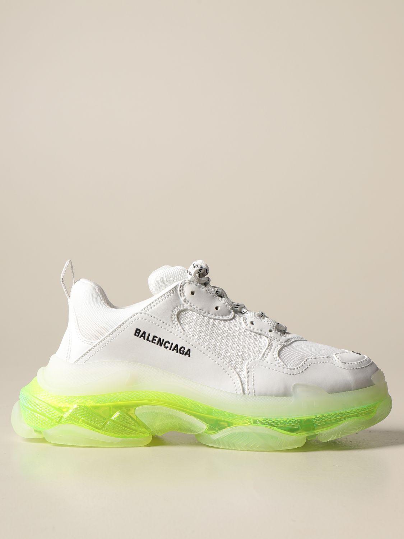 Trainers Balenciaga: Triple s Balenciaga clear sole trainers white 1