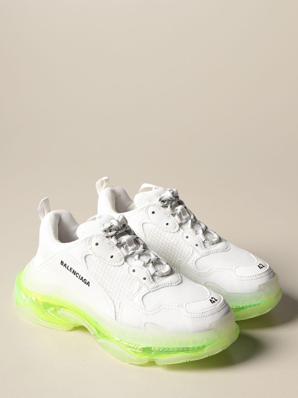 Trainers Balenciaga: Triple s Balenciaga clear sole trainers white 2