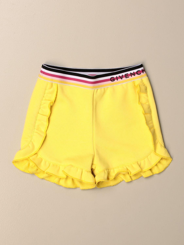 Shorts Givenchy: Pantalon enfant Givenchy jaune 1