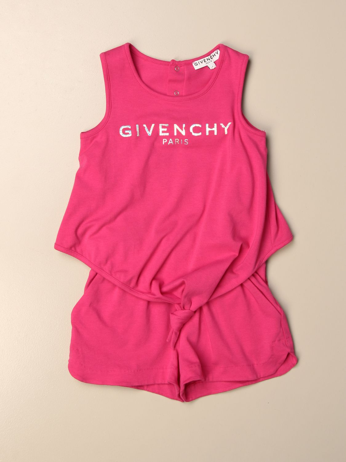 Tracksuit Givenchy: Givenchy cotton tracksuit with logo raspberry 1