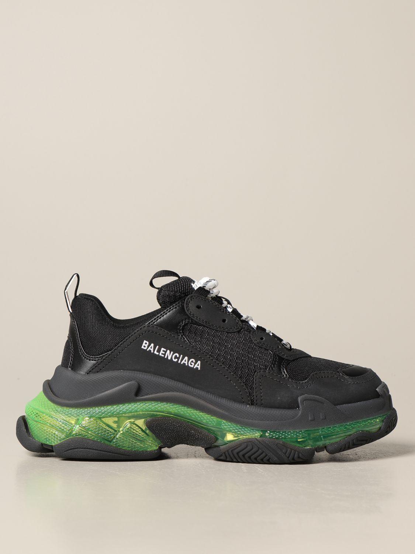 Sneakers Balenciaga: Sneakers Triple s Balenciaga clear sole giallo 1