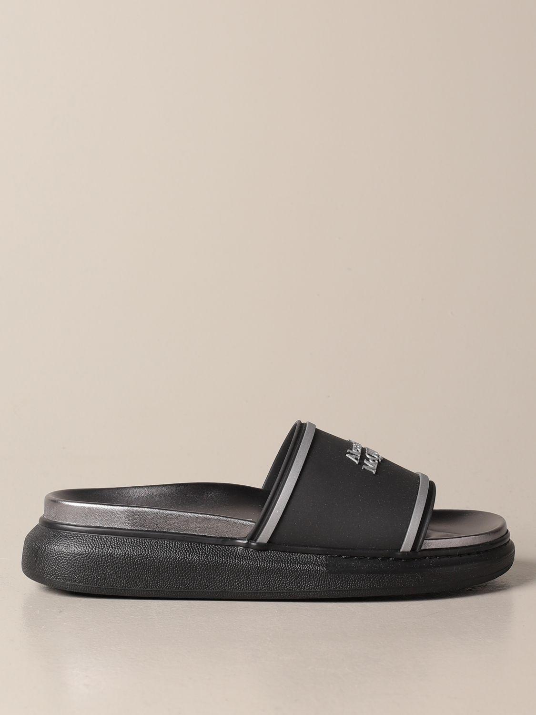 Sandals Alexander Mcqueen: Alexander McQueen sandal in rubber with logo black 1