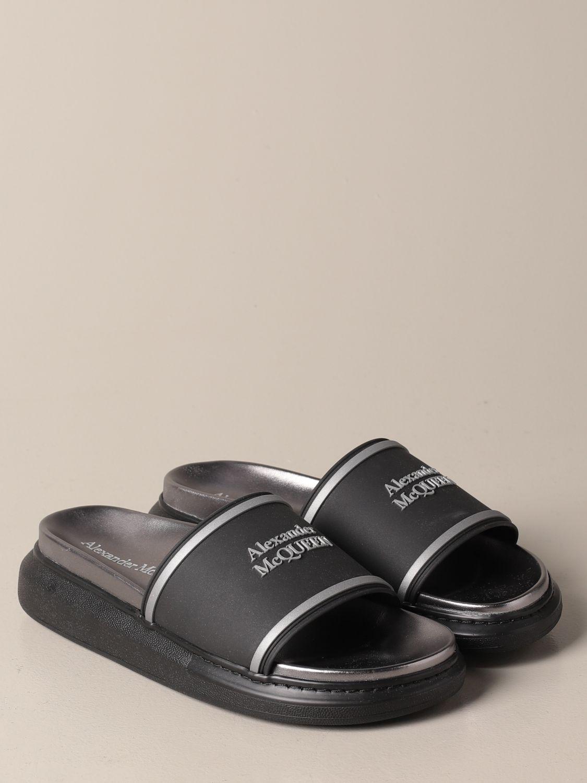 Sandals Alexander Mcqueen: Alexander McQueen sandal in rubber with logo black 2