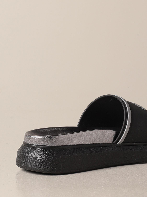 Sandals Alexander Mcqueen: Alexander McQueen sandal in rubber with logo black 3