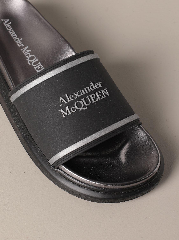 Sandals Alexander Mcqueen: Alexander McQueen sandal in rubber with logo black 4