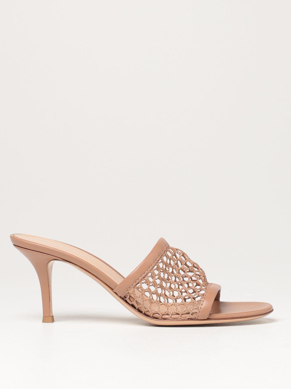 Sandalen mit Absatz Gianvito Rossi: Flache sandalen damen Sergio Rossi haselnuss 1