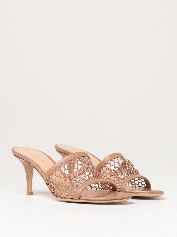 Sandalen mit Absatz Gianvito Rossi: Flache sandalen damen Sergio Rossi haselnuss 2