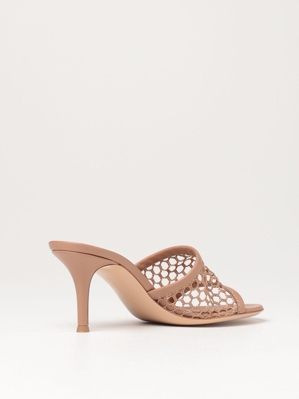 Sandalen mit Absatz Gianvito Rossi: Flache sandalen damen Sergio Rossi haselnuss 3