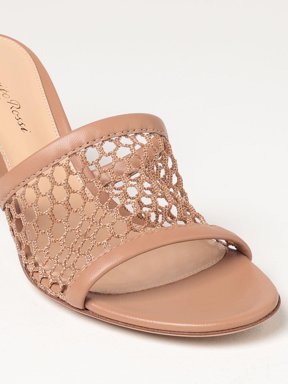 Sandalen mit Absatz Gianvito Rossi: Flache sandalen damen Sergio Rossi haselnuss 4