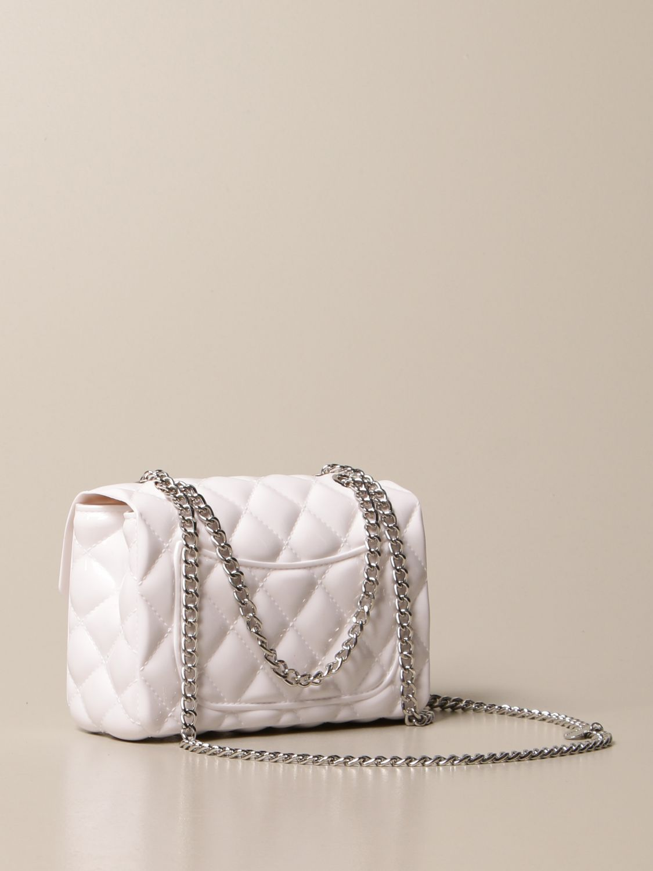 Bag Monnalisa: Monnalisa crossbody bag in quilted pvc yellow cream 2