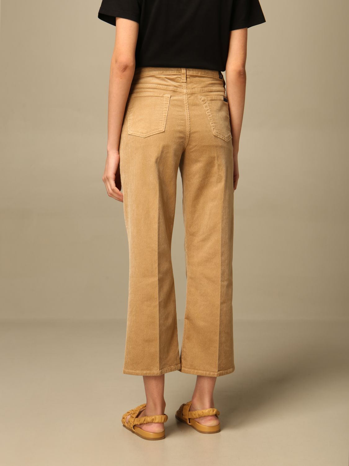Jeans 7 For All Mankind: Jeans mujer 7 For All Mankind beige 2