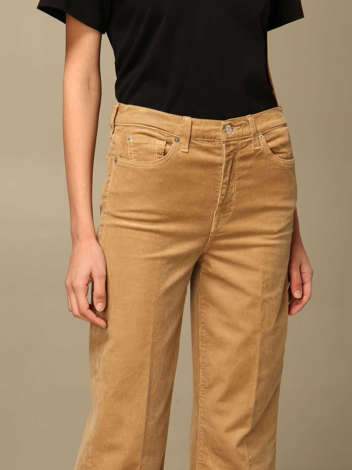 Jeans 7 For All Mankind: Jeans mujer 7 For All Mankind beige 3
