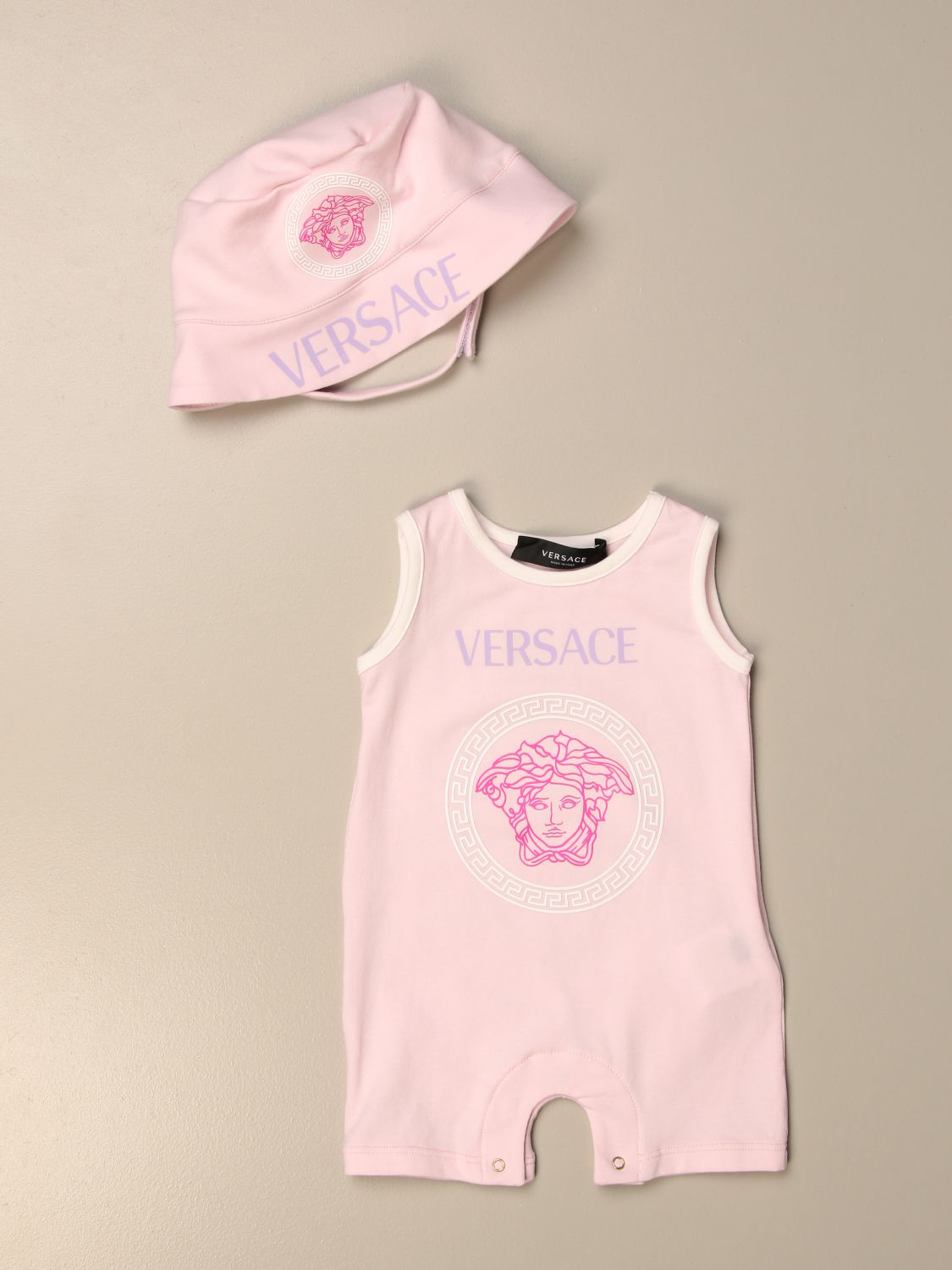 Pack Young Versace: Jumpsuit kids Versace Young pink 1