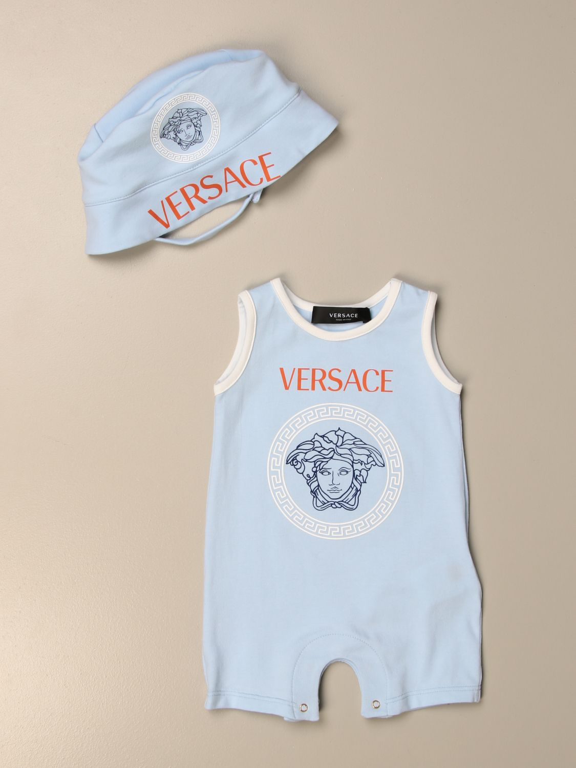 Pack Young Versace: Jumpsuit kids Versace Young gnawed blue 1