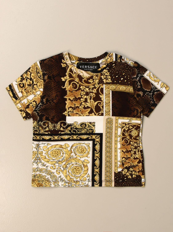 T-shirt Young Versace: T-shirt Versace Young a fantasia barocca nero 1