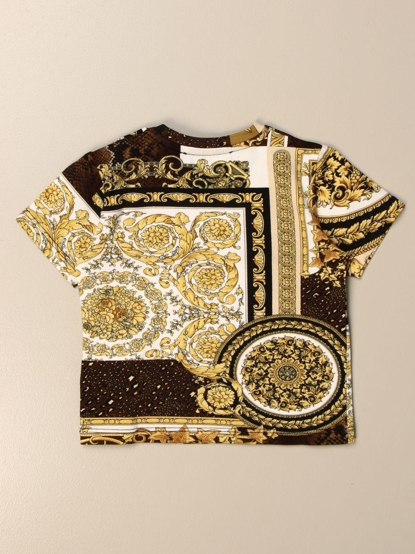 T-shirt Young Versace: T-shirt Versace Young a fantasia barocca nero 2