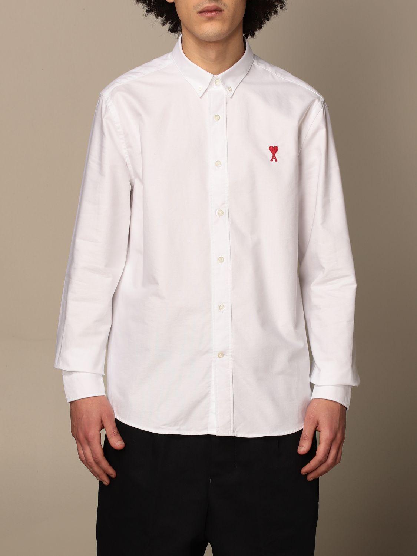 Shirt Ami Alexandre Mattiussi: Ami Alexandre Mattiussi shirt with logo white 1