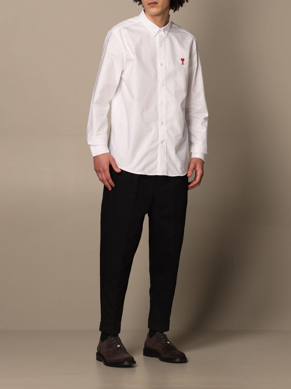 Shirt Ami Alexandre Mattiussi: Ami Alexandre Mattiussi shirt with logo white 2