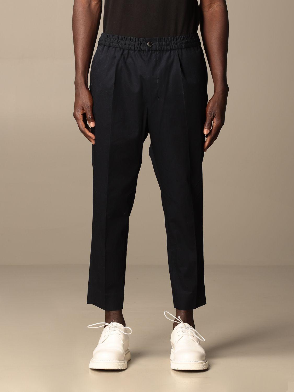 Pantalone Ami Alexandre Mattiussi: Pantalone Ami Alexandre Mattiussi in cotone blue navy 1