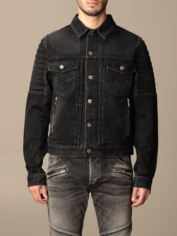 Giacca Balmain: Giacca di jeans Balmain con zip nero 1