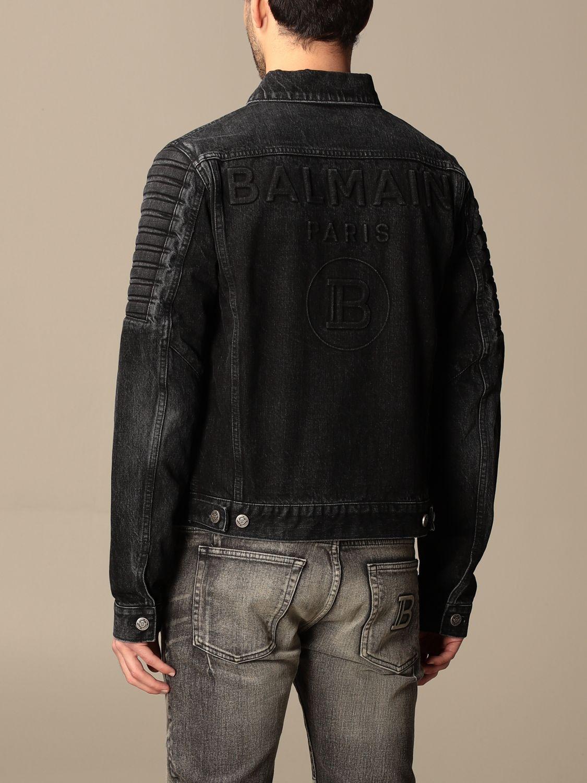 Giacca Balmain: Giacca di jeans Balmain con zip nero 3
