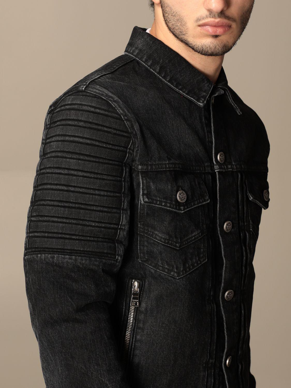 Giacca Balmain: Giacca di jeans Balmain con zip nero 5