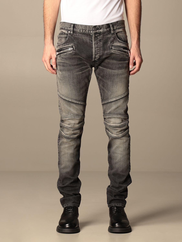 Trousers Balmain: Balmain jeans in washed denim black 1